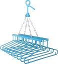 サンワコーポレーション フック付き 10連ハンガー ブルー 約   xb-10