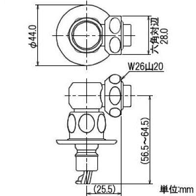 カクダイ 洗濯機用ニップル 772-540