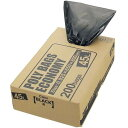 ポリバッグエコノミーBOX 黒 45L(200枚入)