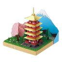 ペーパーナノ PN-144 富士の見える五重塔と桜 カワダ