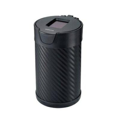 カーメイト 灰皿 ヒット L ソーラー付 カーボン調ブラック DZ176