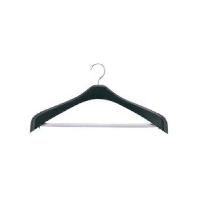 リバース ジャケットハンガー 肩幅42cm ブラック(1コ入)