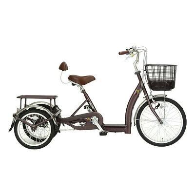 サギサカ 自転車 こげーる Lively 3輪車 cogelu-9014 ブラウン 組立済み 完成車 KK9N0D18P 260サイズ