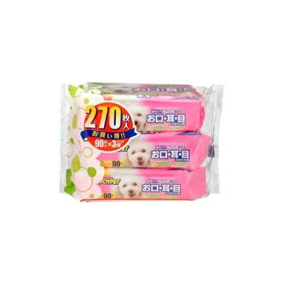 ウェットティッシュ 目・耳・口用(90枚入*3コパック)