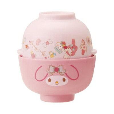 (マイメロディ) (MCW1)メラミン茶わん&汁わん(319860)