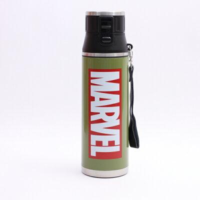 水筒 直径 高さ  マーベル マーブル スケーター 超軽量ダイレクトボトル マーベルロゴ カーキ sdmc12