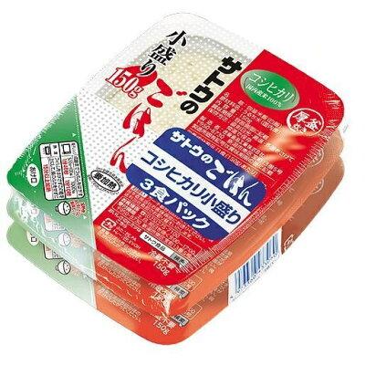佐藤食品工業 サトウのごはん こだわりコシヒカリ小盛り3食パック