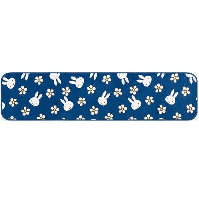 センコー SENKO ディックブルーナ ミッフィー フローフラワー インテリアマット 45×180cm ブルー 48432