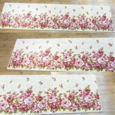 senko センコー  kitchen mat キッチンマットシリーズ  ローラ キッチンマット 約  アイボリー・950344