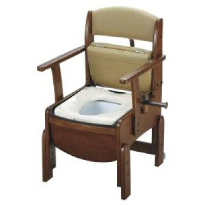 リッチェル 木製トイレきらく コンパクト 普通便座 1851