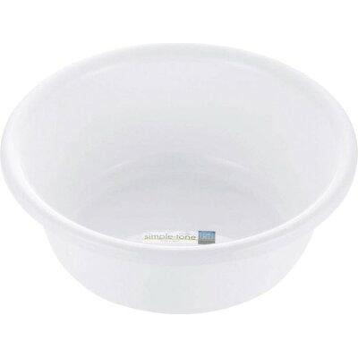 シンプルトーン 湯おけ ホワイト(1個入)