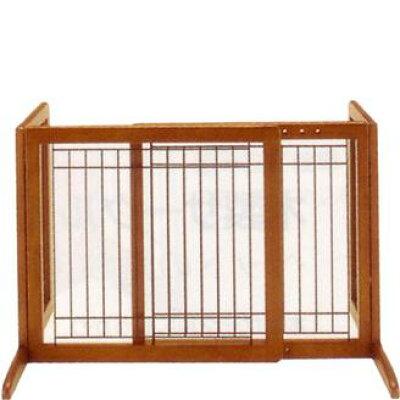 ペット用 木製おくだけゲート(ブラウン)