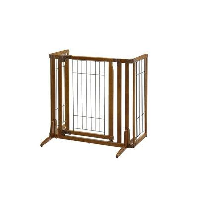 木製おくだけドア付ペットゲートH レギュラー ブラウン(1コ入)