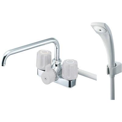 三栄水栓 ツーバルブデッキシャワー混合栓 浴室用 取付芯ピッチ:102mm U-MIX SK71-LH