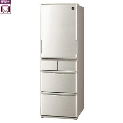 SHARP プラズマクラスター 冷蔵庫  SJ-W412F-S