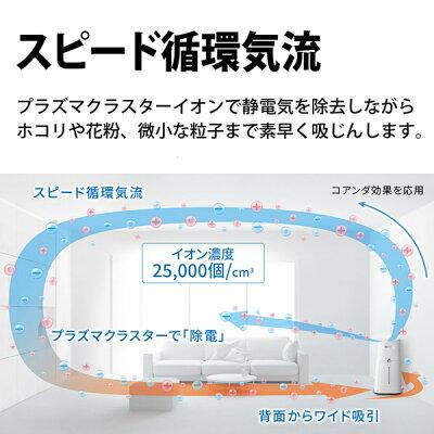 SHARP プラズマクラスター25000搭載 加湿空気清浄機 KI-NS70-W