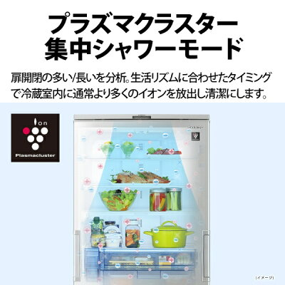 SHARP プラズマクラスター冷蔵庫 SJ-MW46H-S