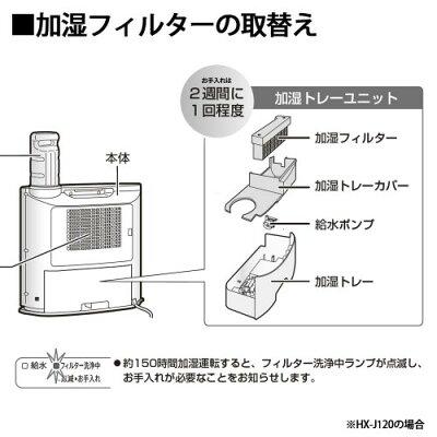 シャープ セラミックファンヒーター用 交換用加湿フィルター HX-FK5(1枚入)
