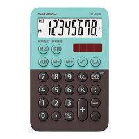 シャープ カラー・デザイン電卓(ミニミニナイスサイズタイプ) EL-760R-GX(1台)