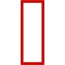 ササガワ タカ印 12-2011 赤枠ポスター 1号大 無地 122011