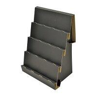 ハンドメイド用組立式傾斜かざり棚 ブラック 本体組立時-高さ400mm×幅294mm×奥行195mm 44-5806