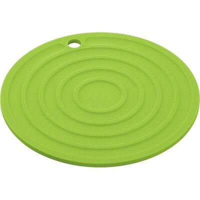 ポゼ シリコン鍋敷き 丸型 グリーン(1コ入)