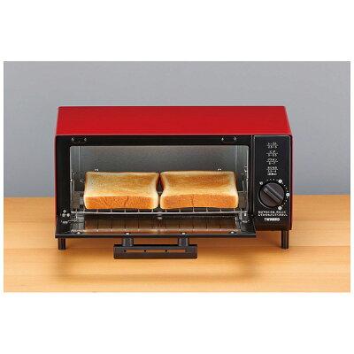ツインバード ロースタイルオーブントースター 2枚焼き対応 TS-4034R レッド(1台)