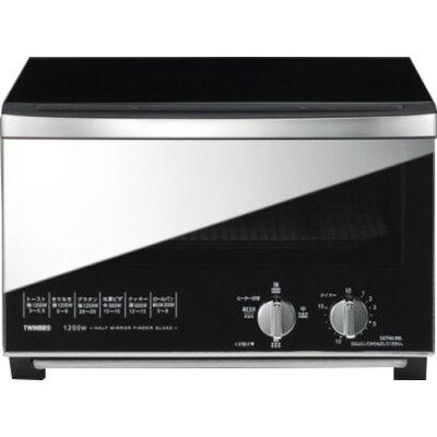 ツインバード ミラーガラスオーブントースター ブラック TS-D048B(1台)