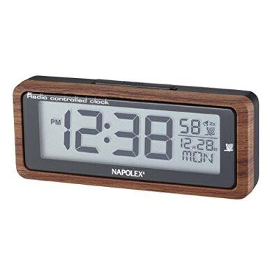 ナポレックス 車用電波時計 木目 FCL-164(1コ入)