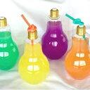 電球ボトル 500ml ワイド ストロー付 光り物玩具/光るおもちゃ
