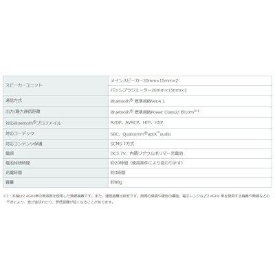 KENWOOD ウェアラブルワイヤレススピーカー CAX-NS1BT-B