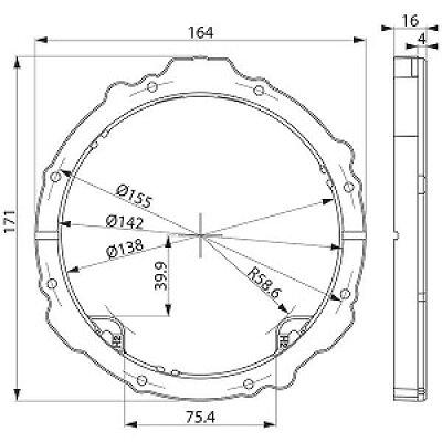 KENWOOD スピーカーインナーブラケット SKX-202S
