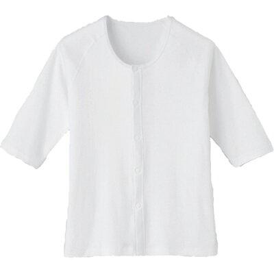 ワンタッチ肌着 ホック式 七分袖 L 7005-A