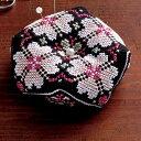 八角形のピンクッション ビスコーニュ 刺繍キット LECIEN コスモ にしきいと使用 クロスステッチ ピンクッション