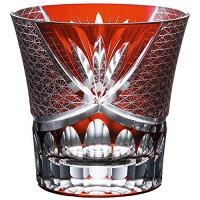 ナルミ(NARUMI) スワール ロックグラス(赤) 280cc