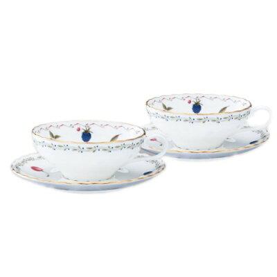 ノリタケボーンチャイナ ポートショア ティー碗皿 ペアギフトセット