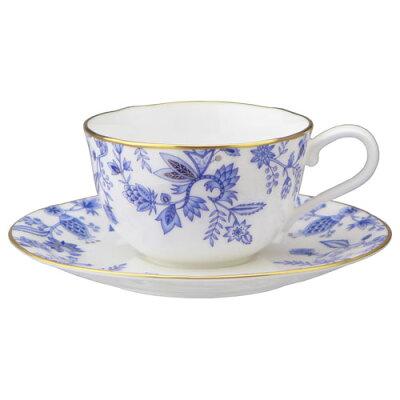 Noritakeノリタケ  ボーンチャイナ ブルーソレンティーノ ティー・コーヒー碗皿 1客  T59387A 4562