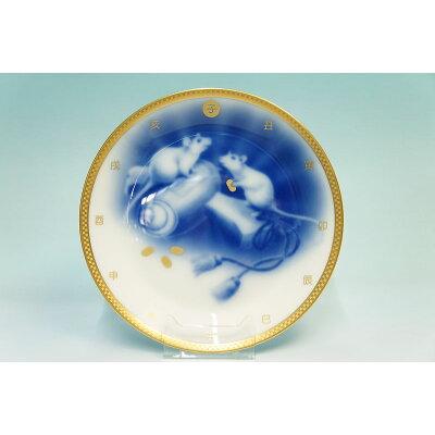 大倉陶園平成31年干支飾り皿干支プレート「亥 いのしし 」2019年 アクリル製スタンド  干支皿