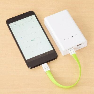 エツミ キーホルダーケーブル Micro USB グリーン VE-6848(1コ入)