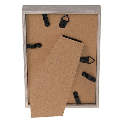 エツミ フォトフレーム Shelf-シェルフ- 棚 ポストカードサイズ 4×6in PS グレー VE-5590