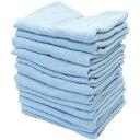フェイスタオル カラータオル 業務用 特選 12枚入り 綿100% 200匁 約62.5g ブルー 80×33.5cm