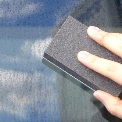 カーオール 窓ガラス用水アカとりパッド(2コ入)
