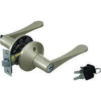 マツ六 7010170 リフォーム用レバーハンドル錠 鍵付個室用 シルバー
