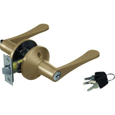 リフォーム用レバー錠間仕切錠 鍵付 ゴールド