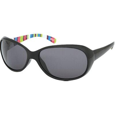 Coleman/コールマン CLA01-1 女性用グラス フレーム:ブラック/ブラック・ストライプ レンズ:スモーク トリアセ偏光
