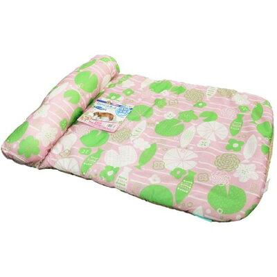 ドギーマン シャーベットタッチ 枕付きマット なついろ模様 ピンク(1個)