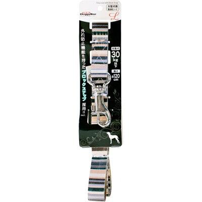 ドギーマン ハンサムストライプリード 25mm ブラウン MD2612(1コ入)
