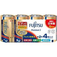 富士通 アルカリ乾電池 LR14 Premium S 単2形 1.5V(4本入)
