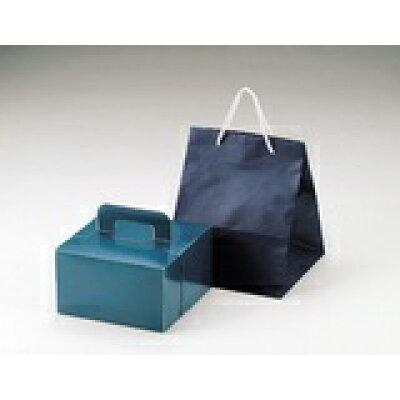 パール デコケーキボックスバッグ16cm ブルー