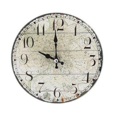 パール金属 卓上 ガラス 時計 置時計 掛け時計 兼用 round   14s1145 n-8183